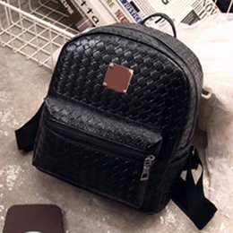 2016 New Women Student Fashion Clutches Backpack Patchwork Zipper Casual Girl School Small Travel Backpack Preppy Style
