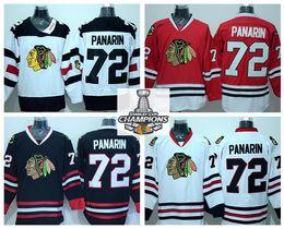 Winter Classic Ice Hockey 72 Artemi Panarin Jerseys Chicago Blackhawks Team Color Red Third Alternate White Black 100% Embroider Logos