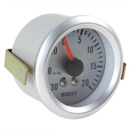 Wholesale Universal quot Inch MM in Hg PSI Auto Car Turbo Boost Gauge Meter Pressure V DC CEC_505