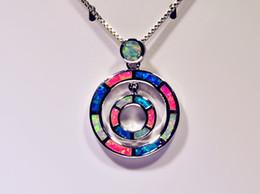 Wholesale & Retail Fashion Jewelry Fine Multi Fire Opal Stone Silver Plated Pendants For Women PJ16061905