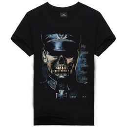 The Explosion of The German SS T-shirt Brand Men's Skeleton Fashion Men's Short Sleeved T-shirt Printing Fashion Men's Clothings