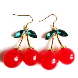 Free Shipping Cherry Earring, New Fashion Wholesale Earring, Red Sexy Women Earring, Wholesale Free Shipping Earring