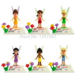 Wholesale Tinker Bell Minifigures Silvermist Rosetta Iridessa Building Blocks Sets Model Bricks Toys For Children