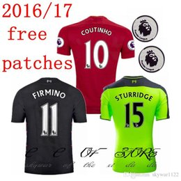 Wholesale 2016 liverpool Jerseys liverpool Home away rdd gerrard shirts GERRARD LALLANA LUCAS COUTINHO jerseys