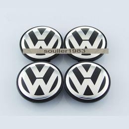 Wholesale 65mm B7 VW POLO JETTA PASSAT Volkswagen logo badge emblems Emblem Wheel Center Caps Covers