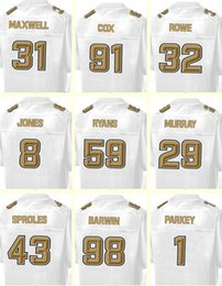 Wholesale Men s Cox Rowe Jones Ryans Murray Sproles Barwin Parkey Maxwell Pro Line White Super Bowl Football jerseys