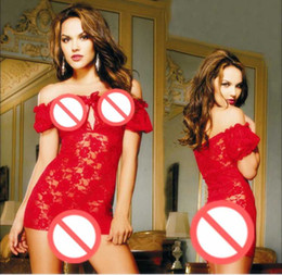 Free shipping large size sexy lingerie Europe and America rose lace collar transparent nightgowns sexy pajamas uniforms