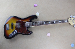 Wholesale Factory Custom High Quality Hot Sale Nature Wood Sunburst Strings Jazz Bass Electric Guitar Rosewood Fingerboard