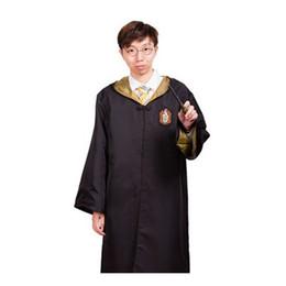Wholesale Kids Halloween Dree Up Disfraz Harry Potter Cosplay Costumes Adult Hufflepuff Robe Cloak Hogwarts Magic Academy Party Robe