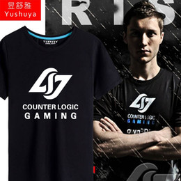 Wholesale 2016 Best Quality League of Legends LOL shirt multicolor leisure North American team fashion C9 TSM CLG young Men shirt