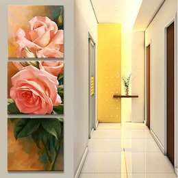 The tulipCorridor canvas oil painting living room pictures on the wall Modular pictures Print caudros decoration(no frame) No Frame