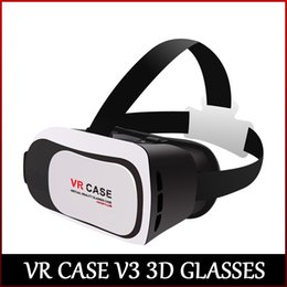 High quality VR CASE V3 3D Glasses view 3D movie and 3D game Perfectly compatible with 3.5-6 inch smartphone freeshipping