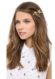 Wholesale European Fashion Metal Gold Star Hairgrips Women Hair Clip Hair Wear Hair Jewelry Accessories Hot