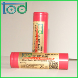 Factory directly sell TOD IMR 18650 3.7V 3500mAh 25A High Drain Rechargeable Battery with protected cell best for E-Cigarette