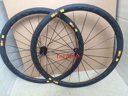 Wholesale Superlight c mm Cycling Carbon Clincher Road Bike Bicycle Wheels U shape Basalt Brake Surface wheels