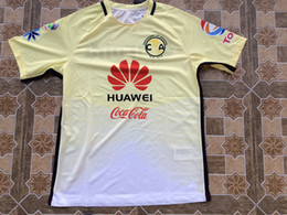 Wholesale 16 Club America Home Yellow Player Version Soccer Jerseys Best Quality D BENEDETTO R SAMBUEZA P AGUILAR MICKY O MARTINEZ Soccer Jersey