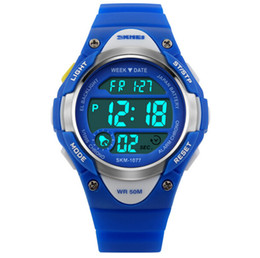 SKMEI Brand Children Digital Watch Kid Boy Girl Outdoor Baby Sport Watch LED Silicone Alarm Stopwatch Wristwatch Fashion Shock