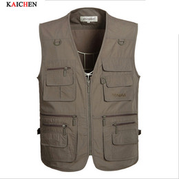 Fall-Factory wholesale Summer Men Multifunctional Fly Vest Sleeveless Jackets Coats Outdoor Camping Clothes Photography Vest