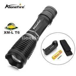 E007 CREE XM-L T6 2000Lumens cree led Torch Zoomable cree LED Flashlight Torch light+18650 battery+charger+torhc Holster