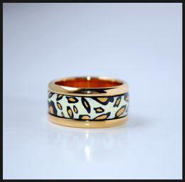 Leopard Series rings 18K gold-plated enamel rings Top quality designer ring for women brand rings for gift