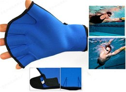 Wholesale Water palm swimmer web children adult swimming must improve swimming speed diving gloves men and women
