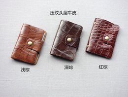 Wholesale True pickup bag bank card ten yuan Cowhide store pickup soft cover supply of small gifts Business card holder clip