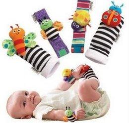 Promotion chaussettes lamaze hochet 2000pcs Nouvelle arrivée sozzy poignet hochet pied finder jouets pour bébé hochet de bébé chaussettes Lamaze bébé Hochet Chaussettes et bracelets