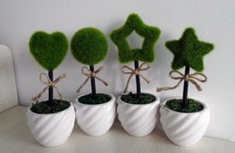 New style ornament potted plants high quality flower vase for desktop lovely heart ,star ,ball shape artificial plant