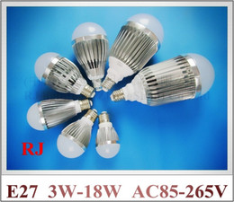 Wholesale SMD LED bulb E27 LED bubble ball bulb globe light W W W W W W W AC85 V E27 aluminum high bright long life CE