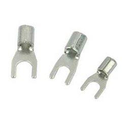 Bare copper wire cold weld UT2.56 silver fork lug 1000