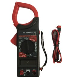 Wholesale AC DC Digital Clamp Multimeter DT266 Electronic Volt AMP Resistance Tester Clamp Meter Data Hold AC V DC V