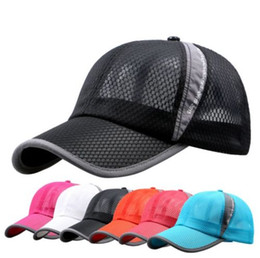 women's adjustable baseball cap soprt breathable hat outdoor golf summer hat for man free shipping