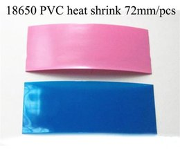 72mm pcs 18650 PVC Heat Shrink insulation Re-wrapping sale for imr 18650 battery sony vtc4 vtc5 samsung LG he4 us18650 ultrafire batteries
