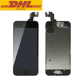 For Apple Iphone 5S LCD Screen Glass Replacement Digitizer Assembly+Front Camera Full Set Assembled Black&White Wholesale