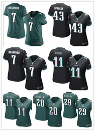Wholesale 2016 hot sale women Cunningham football Jerseys Philadelphia cheap Eagles jerseys elite authentic football shirt size S XL
