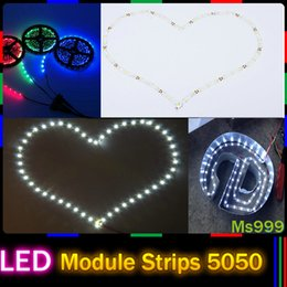 Wholesale Bend Freely S Shape Flexible SMD5050 LED Strips Light V m Roll leds m Designed for Backlit Advertising Channel Letters LED Signage