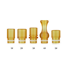 Wholesale New Arrival PEI Drip Tips PEI Plastic Raw Material Wide Bore Drip Tips for e cigs Cate Doge RDA Vaporizers