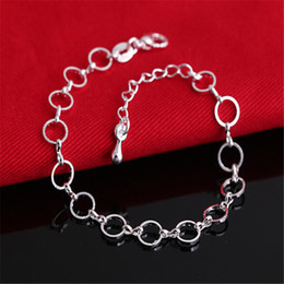 Hot Sale Fashion Jewelry 925 sterling silver Bracelets Best Gift Free shipping 10pcs lot High quality