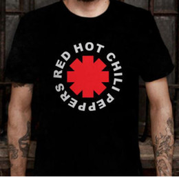 Wholesale Red Hot Chili Peppers Distressed Asterisk T Shirt RHCP Shirt Tee More T shirt Mens Normal Neck Casual Cotton Short Sleeve