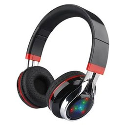 Wholesale High Definition Wireless Stereo Bluetooth Headset earphone Sport Headphone With LED Light MIC Support FM TF Card Remote Control
