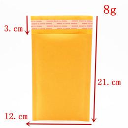 Compra Online Burbuja de papel kraft-Bufandas de la burbuja de Kraft de la alta calidad de Wholesale-3pcs los 12 * 21cm rellenaron los sobres de los bolsos de los sobres de la burbuja del sobre