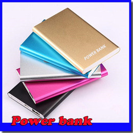 Wholesale Ultrathin Slim powerbank mAh xiaomi power bank Portable External Backup Charger powerbank for Iphone Samsung galaxy S7 with retail box