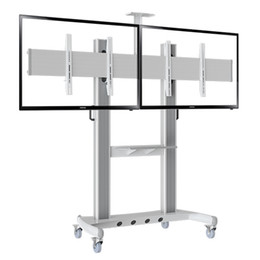 "Heavy Duty Dual Screen TV Mobile Cart NB AVT1800-60-2A 40""-60"" LED LCD Plasma TV Trolley Stand With AV Shelf And Camera Holder"