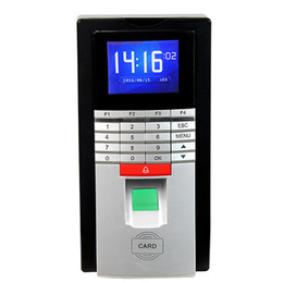 Acheter en ligne Machine d'horloge d'empreintes digitales-Biométrique d'empreintes digitales Time Clock Recorder ID Card fréquentation de contrôle d'accès automatique intégré 2.4 pouces Écran TFT HD F6157D