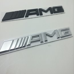 Wholesale 3d metal Chrome Car Logo D Metal AMG Badge Sticker For Mercedes Ben Trunk Rear Decal SL SLK Class CLK