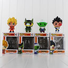 FUNKO POP Dragon Ball Z Son Goku Vegeta Piccolo Cell PVC Action Figure Collectible Model Toy Retail