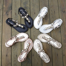 Wholesale New arrival Summer Lady Anchor Flat Sandal womens Pirates Flip Metal Shoes T Strap Slipper Shoes