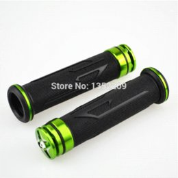 "Green Universal Motorcycle Aluminum Rubber GEL Hand Grips For 7 8"" Handlebar Sports Bikes wholesale rubber zentai"