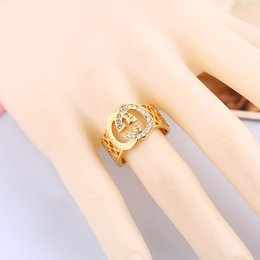 Wholesale 2016 of the latest fashion style women set auger ring euramerican style Simple high end air letter set auger care accessories manufacturers