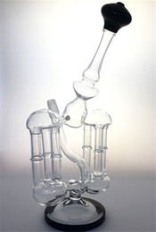 Bongs Double Sides Recycler Bamboo Column Design Glass Bongs Dab Rig With14mm Male Joint From Hyman Water Pipe Percolator Oil